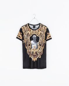 Zara - BAROQUE PRINTED T - SHIRT - T - shirts - MAN | ZARA United States - Share Some Style