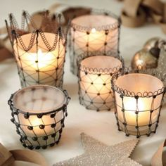 Audrey Votives | Iron Votives | Glass Votives |