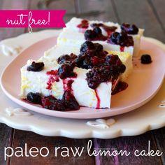 paleo raw lemon cake nut free