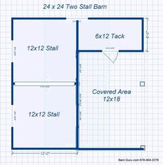 Barn Plans Stall Horse Barn - Design Floor Plan double it for a 4 horse, plus I'm gonna need a WAY bigger tack room! Horse Shed, Horse Barn Plans, My Horse, Horse Tips, Barn Stalls, Horse Stalls, Small Horse Barns, Barn Layout, Horse Barn Designs