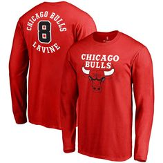 Zach Lavine Chicago Bulls Fanatics Branded Round About Name & Number Long Sleeve T-Shirt - Red