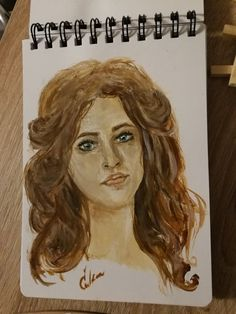 A little sketch of a brunette girl (oil paints)