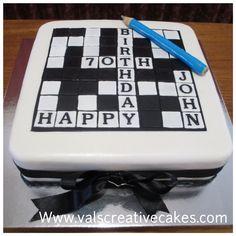 Cake for a crossword fan