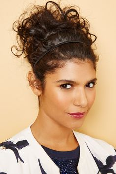 Curly Styles That Kick Humidity To The Curb #refinery29  http://www.refinery29.com/curly-hair#slide16  Now, you've got yourself a super-versatile look. You can wear this style to a fun day at the park or even a formal event like a wedding. For longer hair, you can also add more headbands and height.