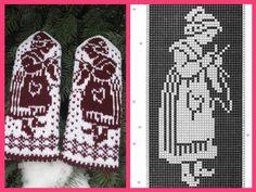 """Вязание. Варежки с жаккардом - """"Зимняя радуга"""""""
