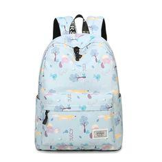 2017 Fresh Lady Animal Printing Waterproof Polyester Bag Casual School Backpacks for Teenage Teens Girls Fashion Bags, Fashion Backpack, Fashion Women, Women's Fashion, College Bags, Backpack For Teens, School Bags For Girls, Adolescents, Laptop Backpack