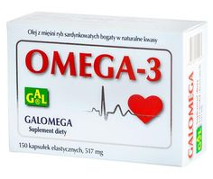 GALOMEGA 517 mg // Olej z mięśni ryb sardynkowatych bogaty w naturalne kwasy OMEGA-3. Wspomaga pracę układu krążenia i stawów. Przyczynia się do utrzymania prawidłowego funkcjonowania mózgu. http://www.gal.com.pl/produkty/suplementy-diety/galomega-517-mg.html