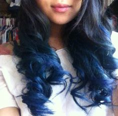 Blue and Purple Ombre Hair | Blue Ombre Hair Fashioninspirercom Picture
