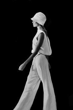 ralph lauren, chic, jumpsuit, style, black white, classic white, 2012 inspir, fashion photography, lauren runway