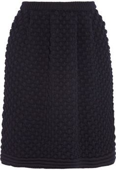 Chloé Bubble-knit wool skirt