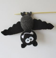 Bat knitting projects for toys, shawls, hats, decor, and more featuring a bat motif. Most Patterns are free. Hanging Bat, Fall Knitting, Animal Knitting Patterns, Loom Knitting Projects, Ear Warmer Headband, Knitted Animals, Ear Warmers, Cable Knit, Halloween Decorations