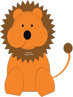 Love love love this lion!  Courtesy of www.craft-a-project.com.  She has so many cute ideas and website is fabulous!