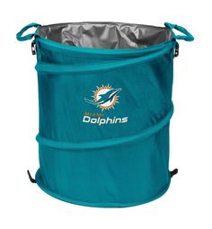 NFL MIAMI DOLPHINS 13 Gal Collapsible 3 in 1 COOLER - LAUNDRY HAMPER - TRASH CAN #LOGOBrand #MiamiDolphins