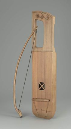 Bowed lyre (jouhikko) and bow 1949 Dick Backlund, Finnish, active mid-20th century Helsinki, Finland