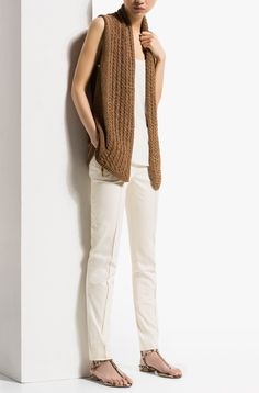 FANTASY CABLE KNIT WAISTCOAT - Cardigans - Sweaters & Cardigans - WOMEN - United States