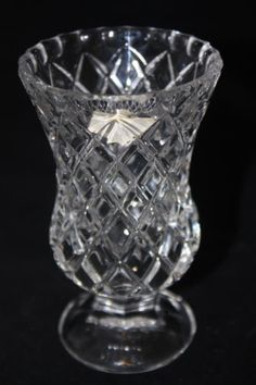 "Vintage Zajecar Yugoslavia 24% Lead Crystal Glass Bud Vase 4.75"" x 3"" FREESHIP #Gifts"