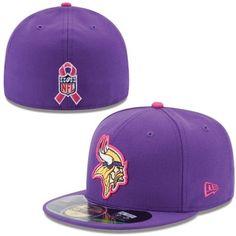 Women's Minnesota Vikings New Era Gray/Pink Breast Cancer Awareness Knit Beanie