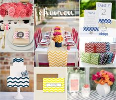 chevron wedding ideas // from diy wedding supplies