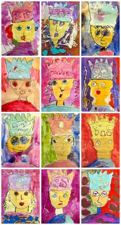 Tale Royal Kinder Portraits lovely self portraits for start of year with crowns, includes high and low demand aspects toolovely self portraits for start of year with crowns, includes high and low demand aspects too Kindergarten Self Portraits, Kindergarten Art, Preschool, Fairy Tale Crafts, Fairy Tale Theme, Deep Space Sparkle, Fairy Tale Activities, Art Activities, Dragons