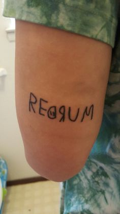 """ashleypach: """"My Friday the 13th tattoo. I just had too. #stephenking #theshinning """""""