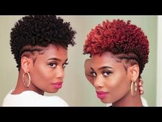 5 Minute Hair Color Transformation on Tapered Natural Hair | MissKenK