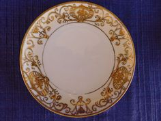 $6 bread plate Over 100 years old. Made by Saji & Kariya, Japan. SAJI & KARIYA matches NORITAKE 175 or 16034. The piece is in very good condition, especially for it age. The gold beaded & gold gilding shows little wear, especially the inner inside thin ring. | eBay!