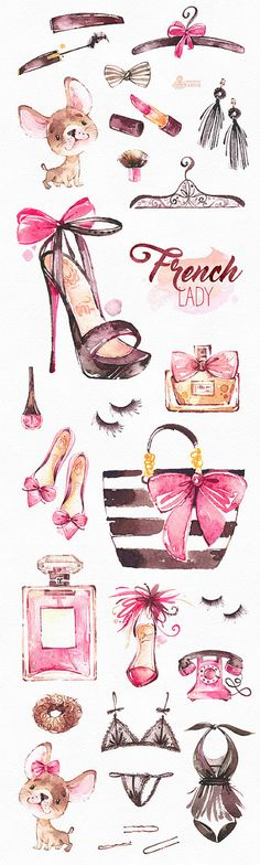 This is an fashion french collection includes 30 handpainted watercolor images. Perfect graphic for fashion projects, brand identity, invitations, cards, logos, photos, posters, wallarts, quotes, diy and more.  -----------------------------------------------------------------  INSTANT DOWNLOAD Once payment is cleared, you can download your files directly from your Etsy account.  -----------------------------------------------------------------  This listing includes:  30 x Different Graphic…