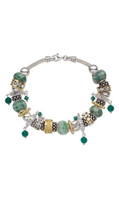 Bracelet with Dione™ Large-Hole Beads and Swarovski Crystal Beads - Fire Mountain Gems and Beads