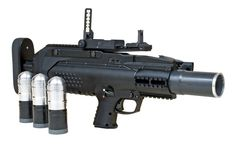 Metal Storm 3GL - 3 shot semi automatic modular grenade launcher. Serious firepower