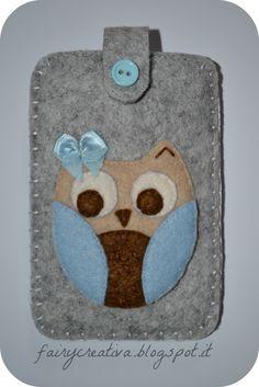 Fairy Creativa: nuovo portacellulare di feltro