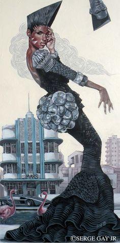 Haitian-born Serge Gay Jr is a San Francisco based graphic artist.
