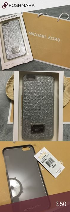 last one  Michael Kors I phone 6 plus case Michael Kors iPhone 6 Plus cover with studs color is called crystal gray/silver. Brand new with tags and box and Michael Kors bag. 100% real Michael Kors Accessories Phone Cases