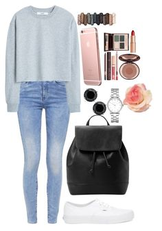 """""""Where did you come from"""" by xxabbeybearxx ❤ liked on Polyvore featuring G-Star, MANGO, Vans, Marc by Marc Jacobs, Urban Decay and Charlotte Tilbury"""