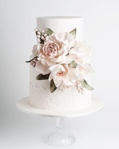 special cake for Kate & Luke. Happy wedding day to my beautiful sister in la A special cake for Kate & Luke. Happy wedding day to my beautiful sister in la.A special cake for Kate & Luke. Happy wedding day to my beautiful sister in la. Fondant Wedding Cakes, Floral Wedding Cakes, Elegant Wedding Cakes, Wedding Cakes With Flowers, Elegant Cakes, Beautiful Wedding Cakes, Wedding Cake Designs, Beautiful Cakes, Rustic Wedding