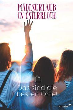 Du planst mit deinen Freundinnen einen Kurztrip, ihr wisst jedoch noch nicht, wohin die Reise gehen soll? Wir haben hier ein paar tolle Orte in Österreich, die perfekt für eine gemeinsame Auszeit sind. So steht dem nächsten Mädelsurlaub nichts mehr im Weg. Wanderlust, Coaching, Movies, Movie Posters, Travel, Girls Getaway, Europe Travel Tips, Girlfriends, Time Out