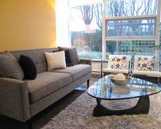 cozy grey contemporary living room