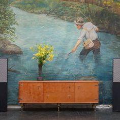 BDDW Leather Wrapped Credenza