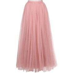Little Mistress Rose Tulle Midi Skirt (2.825 UYU) ❤ liked on Polyvore featuring skirts, bottoms, elastic waist skirt, midi skirt, mid calf skirts, button skirt and tulle skirt