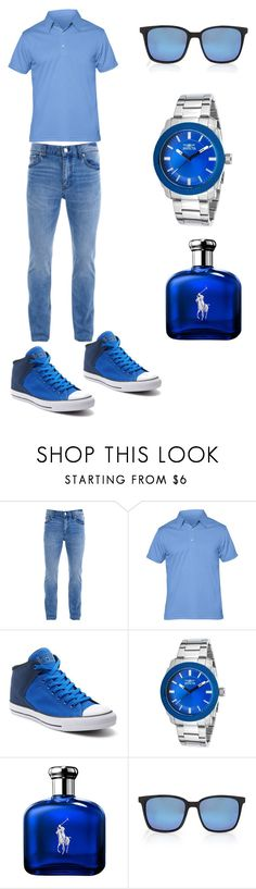 """""""Blue Collection"""" by zbanapolivore ❤ liked on Polyvore featuring BLK DNM, Ministry of Supply, Converse, Invicta, Ralph Lauren, Forever 21, men's fashion and menswear"""