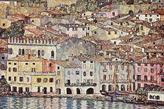 "Gustav Klimt, ""Malcesine sul lago di Garda"", 1913, olio su tela."