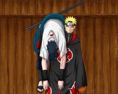 """I toss Sasuke over the fence. """"Fetch! Go get him Naruto! Go get him!"""" Consider yourself retrieved Sasuke. Consider yourself retrieved."""