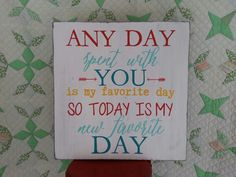 Today Is My New Favorite Day sign by Emerald Custom Signs on Etsy.
