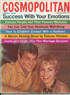 February 1961 cover with the late Tony Curtis & the late Janet Leigh