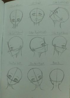 How to draw a manga face(girl)[Part 3] by SakoiyaChan on DeviantArt