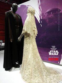 """What struck me the most about this grouping was the incredible beauty and unique nature of Padmé's wedding dress,"" noted Smithsonian Star Wars™ costumes project director Saul Drake as he and the Smithsonian team finished installing the mannequins at @empmuseum Seattle."
