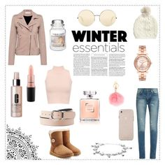 """""""~Winter Essentials~"""" by casseyb ❤ liked on Polyvore featuring IRO, Yves Saint Laurent, UGG, Victoria Beckham, MAC Cosmetics, Yankee Candle, Michael Kors, WearAll, Clinique and MICHAEL Michael Kors"""