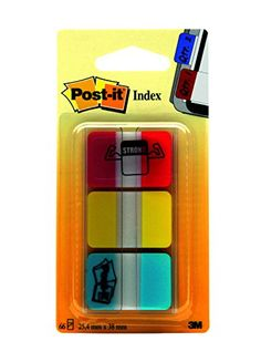 Post-it Tabs with On-the-Go Dispenser, 1-Inch Solid, Red, Yellow, Blue, 22-Tabs/Color, 66-Tabs/Dispenser Post-it http://www.amazon.com/dp/B00006JNMK/ref=cm_sw_r_pi_dp_Eb8Yvb1XB97RM