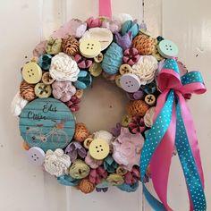 Sugar Art, Flower Crafts, Burlap Wreath, Hanukkah, Wreaths, Homemade, Spring, Flowers, Diy