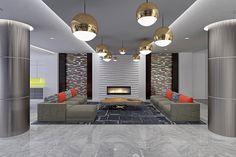 Modern Lobby Design #AscendApollo #Vidazme #InteriorDesign #InteriorArchitecture #ModernInterior #LobbyDesign #MultiFamily