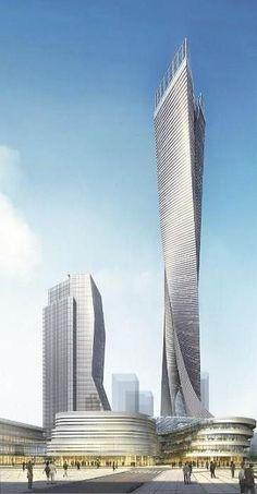 Shenzhen Petrochemical Exchange Center, Shenzhen, China :: height 400m